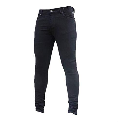 Aderenti Elasticizzati Stretch Basic Pantaloni Slim Jeans Nero Dritti Uomo Battercake Comodo 5wgq06x0