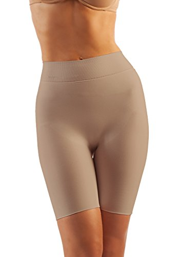 - Alpha Medical Tummy Flatting & Butt enhancing Compression Shorts. For Slimmer Look & After Cosmetic Surgery. Fine Italian Made Quality & Style. (Medium Nude)