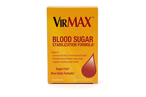 VirMax Blood Sugar Stabilization Supplement - Supports Healthy Blood Sugar & Circulation - Daily Supplement, 30 Count