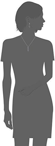 Peora Argent fini rhodium 1,75carats Poids total Forme de poire Pendentif améthyste Ensemble de boucles d'oreilles et collier de 45,7cm