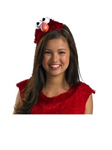 Disguise Women's Sesame Street Elmo Adult Costume Headband, Red, One Size