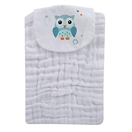 Firecolor Baby Muslin Burp Cloths Sweat Absorbent Towel Washable and Reusable Cotton Wipes Soft Towels for Newborns Infants Toddlers,Fish Pattern