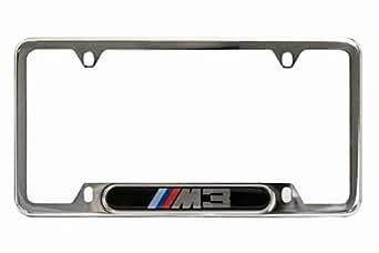 Amazon Com Bmw M3 Logo Polished Stainless Steel License