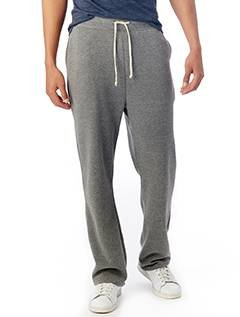 Mens Fleece Open Leg Pant - Alternative Men's Eco Fleece The Hustle Open Bottom Sweatpants Eco Grey Pants LG