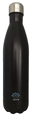 Tempure Large 25 Ounce Stainless Steel Vacuum Insulated Water Bottle - Double Walled, 100% BPA Free, Leakproof - Keeps Liquids Hot and Cold All Day