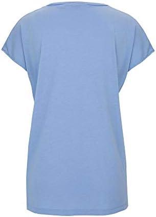 re.draft Damski T-shirt niebieski DER21225609M: Odzież