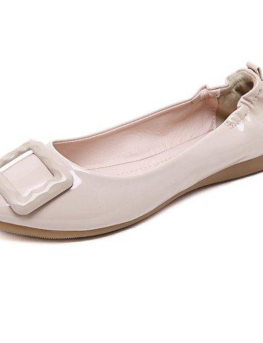 rojo us6 almond zapatos talón uk4 de Toe vestido 5 Toe plano PDX eu37 7 comodidad negro cerrado mujer señaló cn37 Flats 5 almendra de casual 5 CZwx55TU