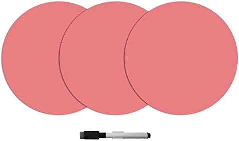 Pink WallPops WPE2125 Coral Dry Erase Dot Decals