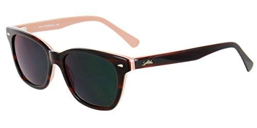 Aloha Eyewear Tek Spex 1010 Unisex Digital Progressive Bifocal NO LINE Reader Sunglasses (Brown w/ Tan - Bifocal Line Sunglasses No