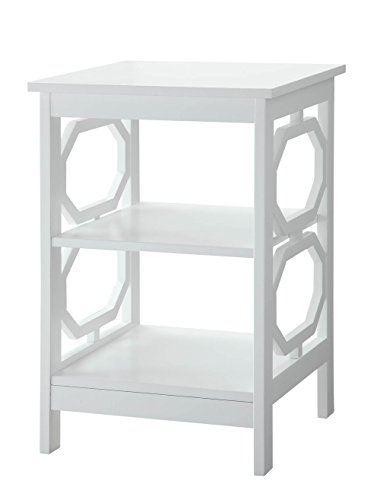 Convenience Concepts Omega End Table, White Review