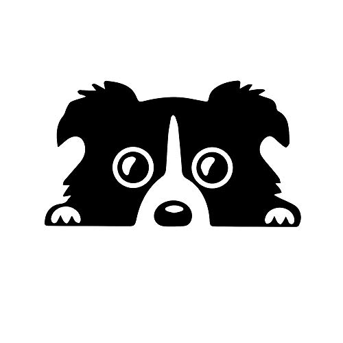 ANGDEST Border Collie Dog (Black) (Set of 2) Premium Waterproof Vinyl Decal Stickers for Laptop Phone Accessory Helmet Car Window Bumper Mug Tuber Cup Door Wall Decoration