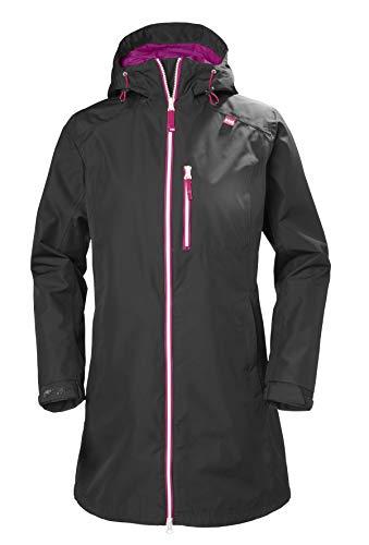 US 55964 Private Brands Helly Hansen Womens Long Belfast Lightweight Waterproof Windproof Breathable Raincoat Jacket with Hood Helly Hansen