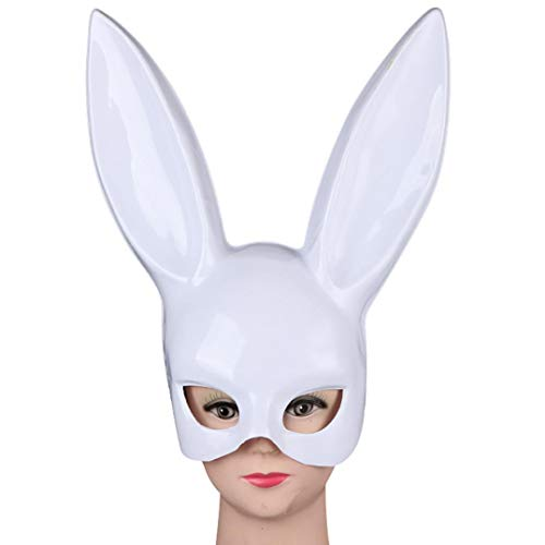 Bunny Mask Rabbit Ears Halloween Party Adults Nightclub Bar Masquerade Half Mask -