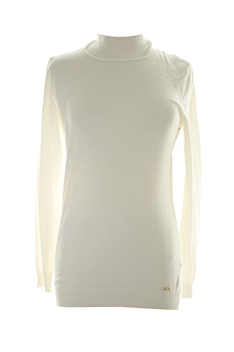 Calvin Klein Women's Essential Mock Neck Sweater, Soft White, Large