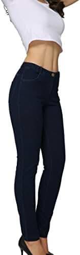 Tasta Women's Skinny Stretch Knit Denim Jeans Jeggings Casual Pants