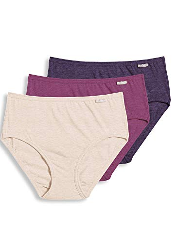 Jockey Women's Underwear Plus Size Elance Hipster - 3 Pack, Oatmeal/Boysenberry/Perfect Purple, 8