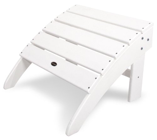 POLYWOOD SBO22WH South Beach Adirondack Ottoman, White