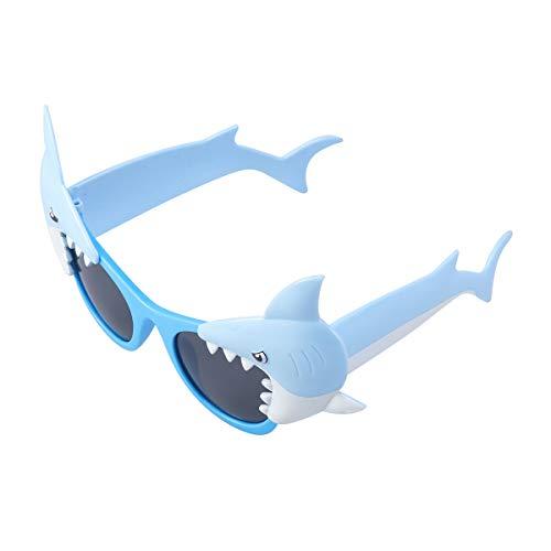 BESTOYARD Blue Ocean Shark Sunglasses Party Sunglasses Dress Up Eyeglasses for Kids Birthday Holiday Party Kids Party Favor ()