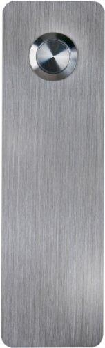 (Waterwood Stainless Steel Ultra Modern Rectangle Doorbell - Adhesive Mount )