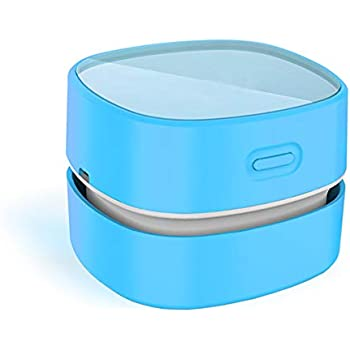 Mini Table dust Sweeper Energy Saving,High Endurance up to 400 mins Green Cordless/&360/º Rotatable Design for Cleaning Hairs,Crumbs,Computer Keyboard,Piano,car ODISTAR Desktop Vacuum Cleaner