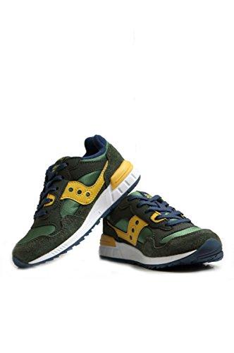 Saucony Boy's Shadow 5000 Green/Navy Sneakers, 7 M