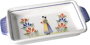 Quimper Henriot Butter Dish - Woman