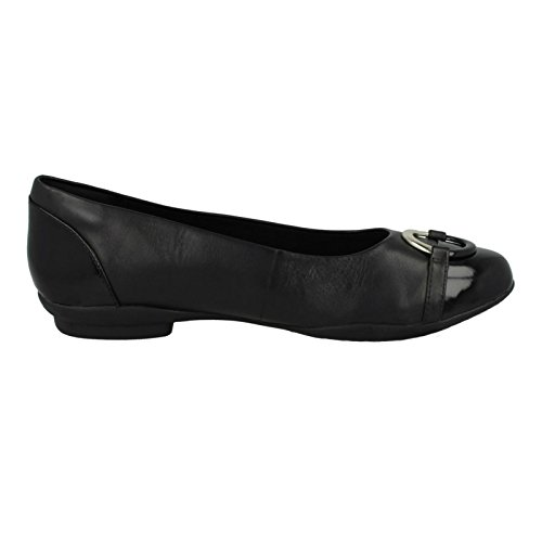 Vine Clarks Neenah Black Ballerine Donna 4Tx710wFq