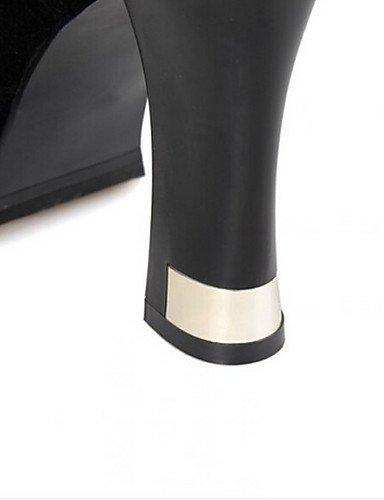 Puntiagudos Black 5 Cn39 Poliéster Uk6 Botas Black us8 Tacón Cn35 5 Zapatos Mujer us5 De Uk3 Stiletto Xzz Casual Eu36 Negro Eu39 RxXSqvw66