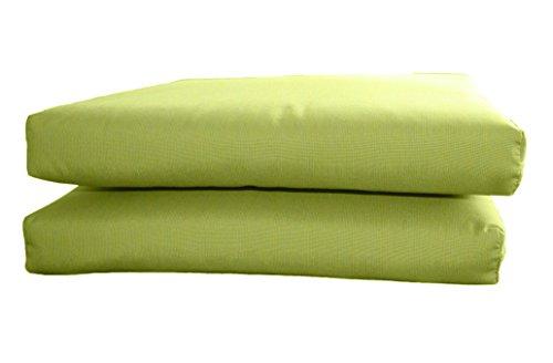 (BHG PU2018B1054 Sunbrella Designer Seat Cushions-Knife Edge (2 Pack), Spectrum Kiwi)