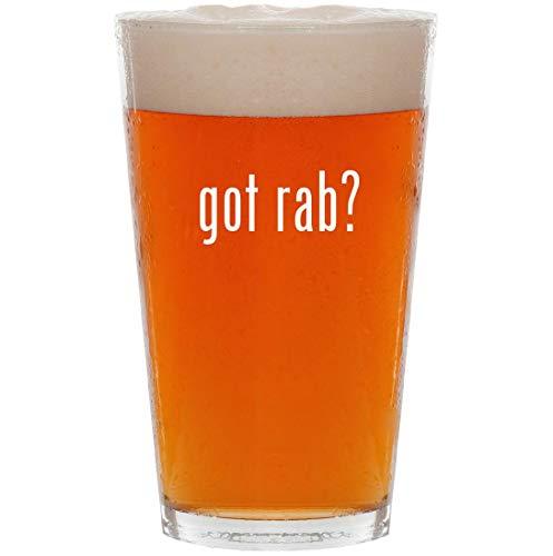 (got rab? - 16oz All Purpose Pint Beer Glass)