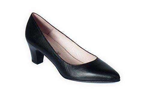 Mujer Para Lucca Cómodos De Tacón Zapatos Negro Zeddea n0UX4Y4
