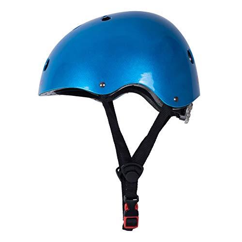 Kiddimoto Helmet, Metallic Blue, Small (48-53 cm) by Kiddimoto (Image #3)