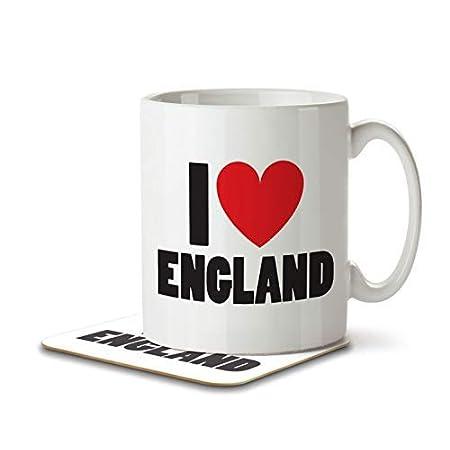 I Love England – Mug and Coaster By Inky Penguin 31Imfk60mJL