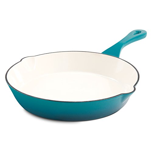 - Crock Pot 111976.01 Artisan 8 Inch Enameled Cast Iron Round Skillet, Teal Ombre