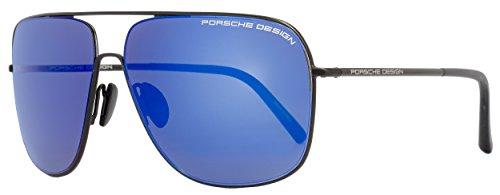 Porsche Design Men's P'8607 P8607 A Black Fashion Sunglasses - For Porsche Men Sunglasses