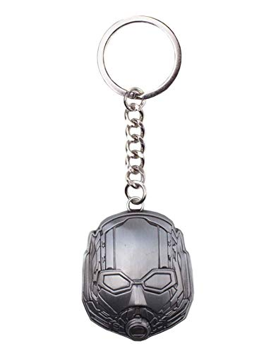 Ant Man & The Wasp Keyring Keychain Helmet Official Marvel Silver Metal ()