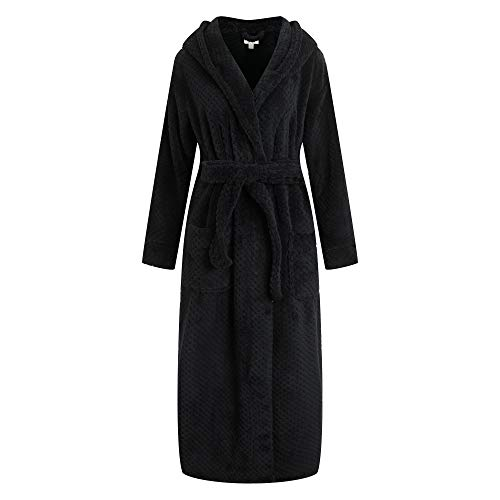 Richie House Women's Soft and Warm Robe Bathrobe with Hood RHW2823-F-L