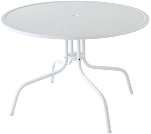 Crosley Furniture Griffith 40-Inch Metal Outdoor Dining Table - Alabaster White (Metal White Dining Outdoor Table)
