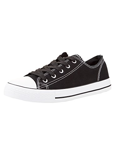 a Ultra Donna Nero oodji Contrasto Basic Sneakers 2900n Finiture con Y7qBf4x