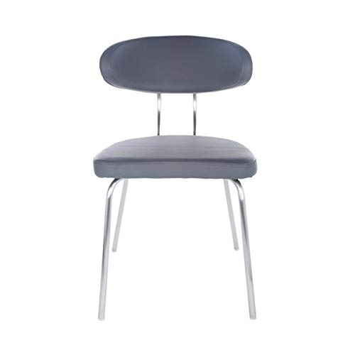 Gray Guest or Conference Chair with Oval-Back Design (Set of 4)