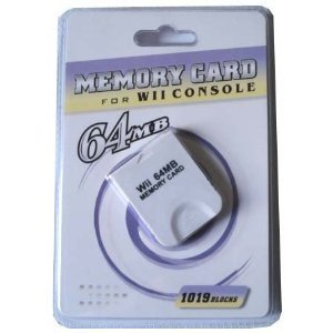 Memory Card for Wii Console 64 MB (1019 Blocks)