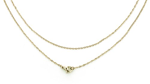 XFOX Jewelry Basic Collections, Oval Fla - Gold Oval Cable Chain Shopping Results