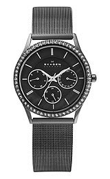 Skagen 347LMMP (Skagen Womens Black Mesh Watch)