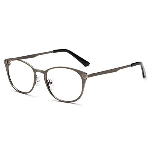 4c84f1fe26 El servicio durable Hombres Mujeres Gafas de lentes transparentes - Marco  de metal Anti azul claro claro Gafas Marco de lentes para computadora / PC  Juego ...
