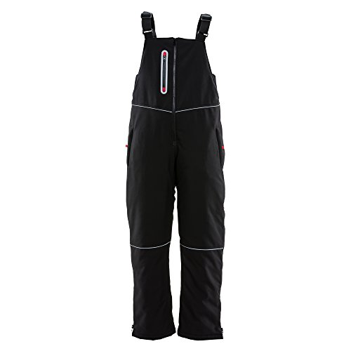 Refrigiwear Women's Insulated Softshell Bib Overalls, X-Large -