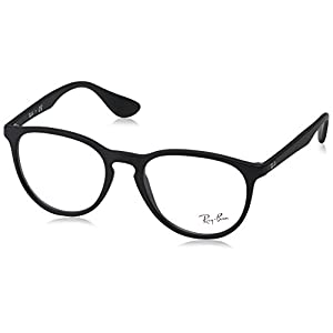 Ray-Ban Women's RX7046 Eyeglasses Rubber Black 51mm