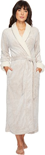 Natori Women's Sherpa Plush Robe, Cashmere, Small