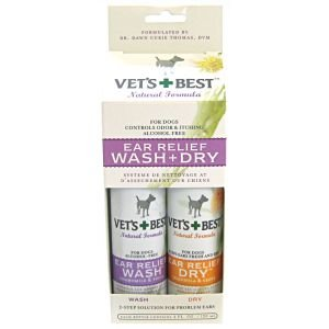 Vet's Best Ear Relief Wash and Dry