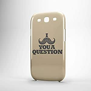 I Mustache you a question Samsung S3 3D wrap around Case - Typography