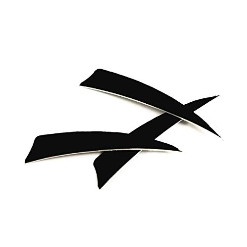 Letszhu Archery Arrows Feather Fletching 4 Inch Real Turkey Vanes for Hunting Target Shooting (25 Pack)